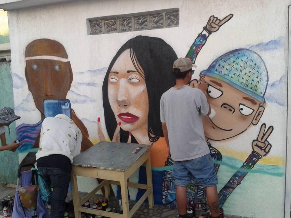 Evento em São Miguel, Grafite contra o lixo