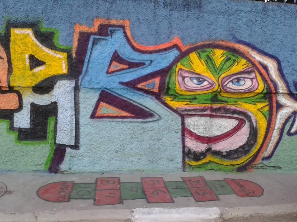 Divulgação/Evento em São Miguel, Grafite contra o lixo