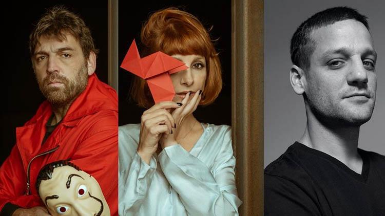 Novos personagens de La Casa de papel, Bogotá, Alicia, Engenheiro e Tamayo.